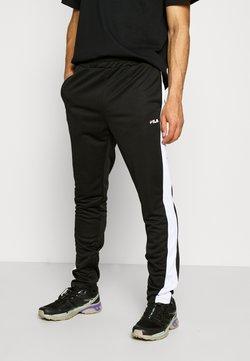 Fila - SANDRO TRACK PANT - Jogginghose - black-bright white