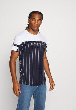 Kings Will Dream - YEZ TEE - T-shirt imprimé - navy/white