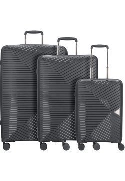 march luggage - 3 PIECES - Kofferset - black