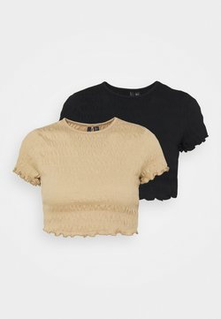 Vero Moda Petite - VMSCARLETT CROP 2 PACK - T-Shirt basic - black