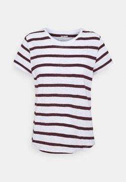 Cotton On - THE CREW - T-Shirt basic - white/winetasting