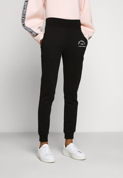 KARL LAGERFELD - ADDRESS LOGO PANTS - Jogginghose - black