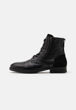 ALDO - BRAVIN - Lace-up ankle boots - black