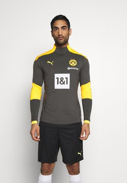 Puma - BVB BORUSSIA DORTMUND TRAINING ZIP - Vereinsmannschaften - asphalt cyber/yellow