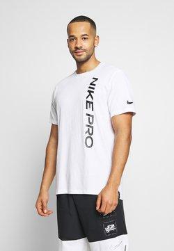 Nike Performance - BURNOUT - Printtipaita - white/black