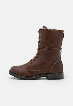 TOM TAILOR - Lace-up boots - cognac
