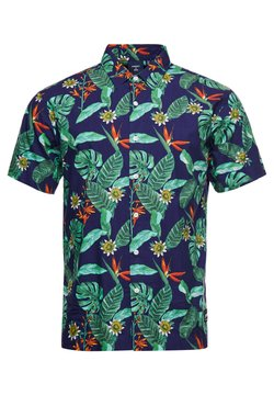 Superdry - HAWAIIAN  - Shirt - navy tropical aop