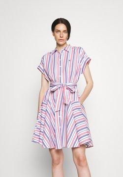 Lauren Ralph Lauren - SHENDAL CASUAL DRESS - Blusenkleid - red/blue/white multi