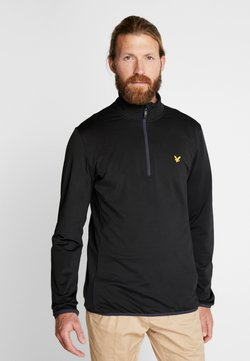 Lyle & Scott - TECH ZIP MIDLAYER - Fleecepullover - true black