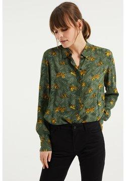 WE Fashion - MET DESSIN - Hemdbluse - dark green