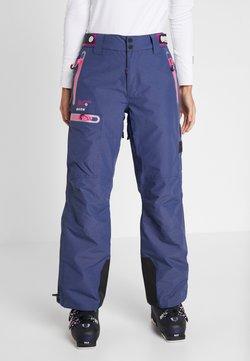 Superdry - SLALOM SLICE SKI PANT - Spodnie narciarskie - vortex navy space dye