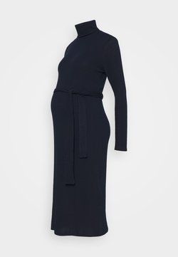 New Look Maternity - ROLL BELT MIDI - Vestido ligero - navy