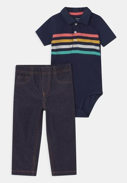 Carter's - MULTISTRIPE SET - Pantalones - dark blue