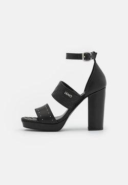 Liu Jo Jeans - HEBE  - Sandalen met plateauzool - black