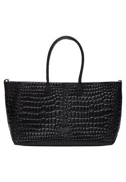 Liebeskind Berlin - MALIBU MIT KROKOPRÄGUNG - Shopping Bag - black