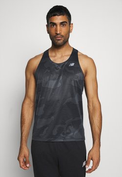 New Balance - PRINTED ACCELERATE SINGLET - Top - black