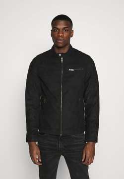 Jack & Jones - JJEROCKY JACKET - Kunstlederjacke - jet black