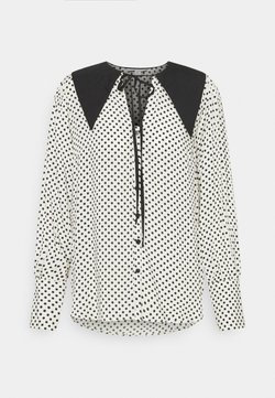 Topshop - SPOT COLLAR - Bluse - white