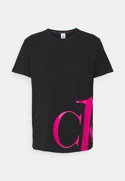 Calvin Klein Underwear - SLEEP CREW NECK - Nachtwäsche Shirt - black/party pink