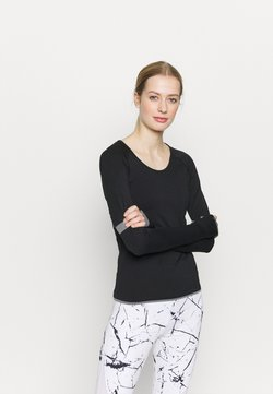 Even&Odd active - SEAMLESS  - Long sleeved top - black