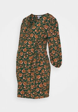 Topshop Maternity - WILLIAM MORRIS WRAP DRESS - Vestido ligero - green