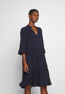 Saint Tropez - EDASZ SOLID DRESS - Korte jurk - blue deep