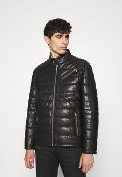 KARL LAGERFELD - Leren jas - black