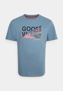 Jack & Jones - JJKIM TEE CREW NECK - T-shirt imprimé - faded denim