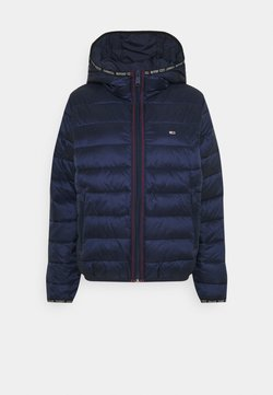 Tommy Jeans - QUILTED TAPE HOODED JACKET - Winterjacke - twilight navy