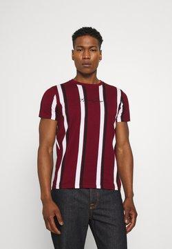 Hollister Co. - VERT STRIPE MENSWEAR - T-Shirt print - burgundy