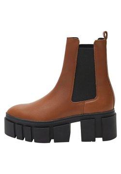 Mango - TRACTOR-I - Ankle Boot - średni brązowy