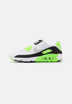 Nike Golf - AIR MAX 90 G - Golfschoenen - white/neutral grey/black/flash lime