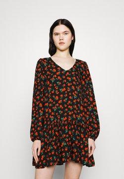 Miss Selfridge - DITSY DRESS - Freizeitkleid - black
