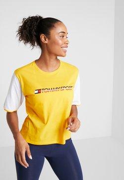 Tommy Hilfiger - TEE COLORBLOCK LOGO - T-Shirt print - yellow