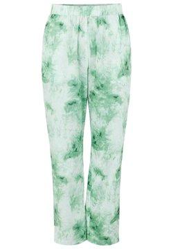Pieces - Spodnie materiałowe - classic green