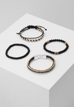 Icon Brand - EDWARDS COMBO 4PACK - Armband - beige/black