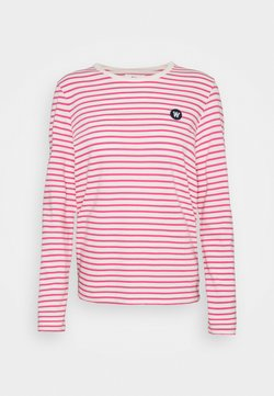 Wood Wood - MOA STRIPE LONG SLEEVE - Langarmshirt - off-white/pink