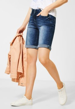 Cecil - SLIM FIT DENIM-SHORTS - Jeansshort - blau