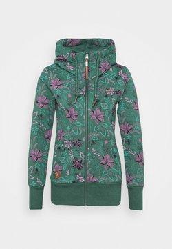 Ragwear - NESKA FLOWERS ZIP - Sweatjacke - green