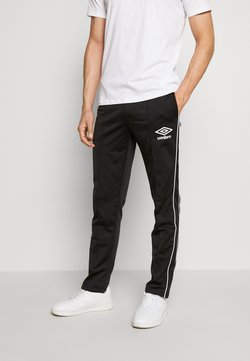 Umbro - DIAMOND TRACK PANT - Jogginghose - black/brilliant white