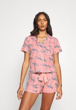 Boux Avenue - ZEBRA PRINT REVERE & SHORT  - Pyjama - pink mix