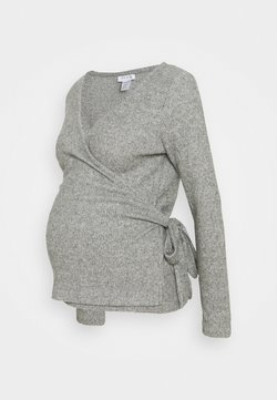 Topshop Maternity - BRUSHED BALLET WRAP - Jersey de punto - grey