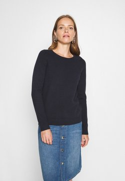 Marc O'Polo - LONGSLEEVE BASIC WITH ROUNDNECK - Strickpullover - midnight blue