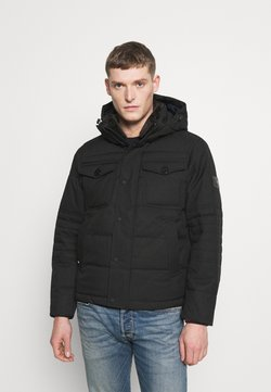 Tommy Hilfiger - REMOVABLE HOODED BOMBER - Winterjacke - black
