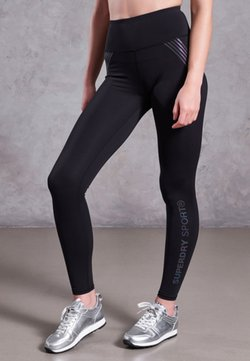 Superdry - PERFORMANCE - Tights - black