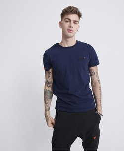 Superdry - VINTAGE  - T-shirt imprimé - navy blue feeder