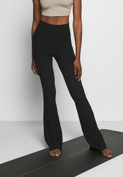 Hey Honey - FLARED PANTS - Pantalones deportivos - black