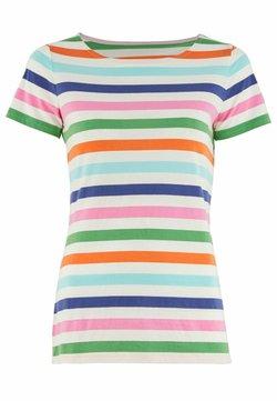 Boden - T-Shirt print - satsuma und leguan, multistreifen