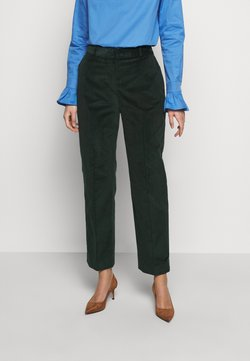 Victoria Victoria Beckham - CROPPED DRAINPIPE TROUSER - Kangashousut - deep teal green