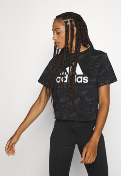 adidas Performance - Printtipaita - black/white